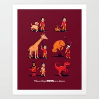 Please Keep Pets on a Leash Art Print