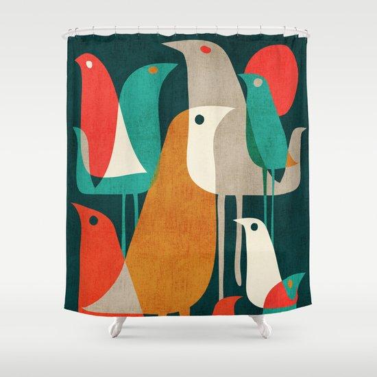 Flock of Birds Shower Curtain