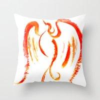 The Firebird Throw Pillow