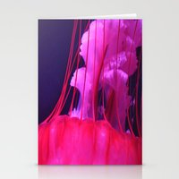 Pink Jellyfish Stationery Cards