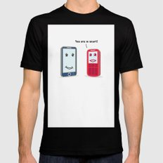 Smartphone evolution Black SMALL Mens Fitted Tee