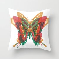 Butterfly Rorschach, Ya Know, For Kids! Throw Pillow