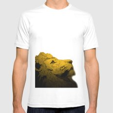 Dont Tame A King ~ Warmness White SMALL Mens Fitted Tee