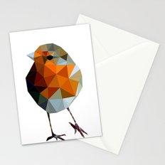 Christmas Poly robin Stationery Cards