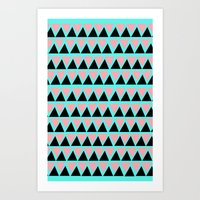 Electric Triangle  Art Print