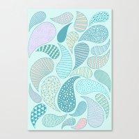 Pastel Paisley Canvas Print