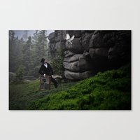 searching inspiration  Canvas Print