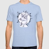 Deer in Dress Code  Mens Fitted Tee Tri-Blue SMALL