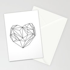Heart Graphic (black on white) Stationery Cards