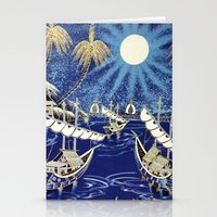 MOON SHIP Stationery Cards