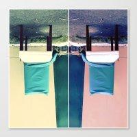 An Upside Down Dumping Canvas Print