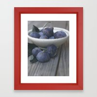 Fig Dish - Still Life - fine art Photography  Framed Art Print