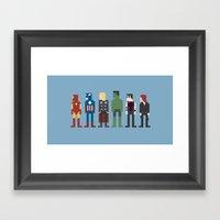 The Avengers 8-Bit Framed Art Print