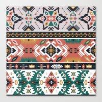 Modern Native American Pattern 1 Canvas Print