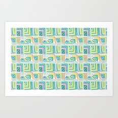 Geometric Color Art Print