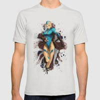 Cammy White Mens Fitted Tee Silver SMALL