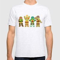 TMNT Happy-Happy Mens Fitted Tee Ash Grey SMALL