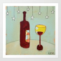 Evening Wine Art Print