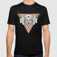 candy skull Mens Fitted Tee Tri-Black SMALL