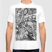 BLACK THOUGHTS  Mens Fitted Tee White SMALL