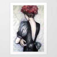 Wallflower // Fashion Il… Art Print