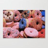 Donuts - JUSTART © Canvas Print