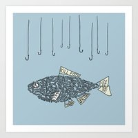 kill fish! Art Print