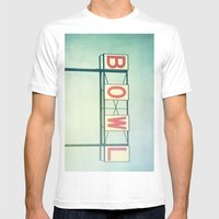 Bowl Mens Fitted Tee White SMALL