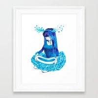 Baby Blue #4 Framed Art Print