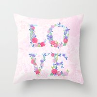 Floral Love Throw Pillow