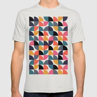 Quarter pattern Mens Fitted Tee Silver SMALL