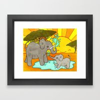 Puddle Stomping Framed Art Print