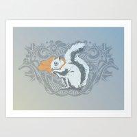 Fearless Creature: Chipp… Art Print