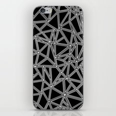 Abstract New White on Black iPhone & iPod Skin