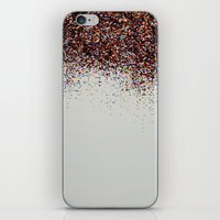 Glitter Sparkle Confetti Rainbow Party iPhone & iPod Skin