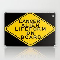 Alien Warning Sign Laptop & iPad Skin