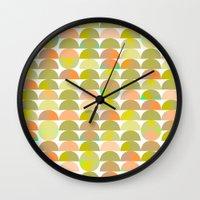 Geometric Juice Wall Clock