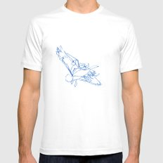 Flight Path Mens Fitted Tee White SMALL