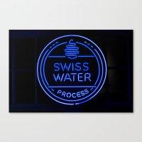 Swiss Water Process Canvas Print