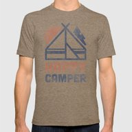 Happy Camper Mens Fitted Tee Tri-Coffee SMALL