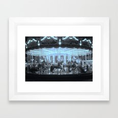 Merry-Go-Round And Round Framed Art Print