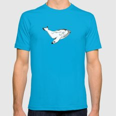 Whale Mens Fitted Tee Teal SMALL
