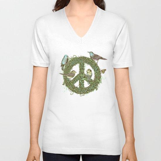 Peace Talks V-neck T-shirt