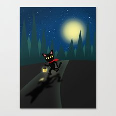 Walk In The Night Canvas Print