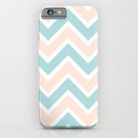 PEACH & BLUE CHEVRON 2 iPhone 6 Slim Case