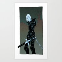 Cursed Knight Art Print