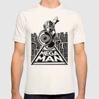 Megaman. In The Year 20x… Mens Fitted Tee Natural SMALL