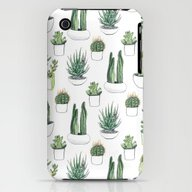 Watercolour Cacti And Su… iPhone (3g, 3gs) Slim Case