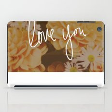 Love You x Orange Floral iPad Case