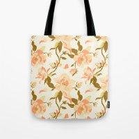 Magnolia Pattern Tote Bag